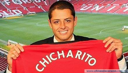 Chicharito foi contratado em 2010 por U$18 milhões, impedindo assim, a ida de James para o United.