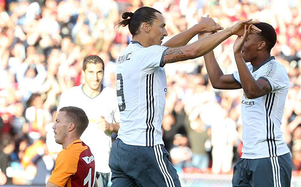Com Ibrahimovic marcando em seu primeiro jogo, United goleia o Galatasaray por 5x2 em amistoso na Suécia