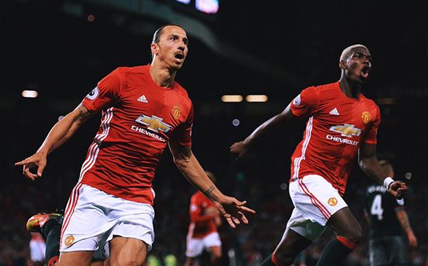 Com 4 gols em 3 jogos, Ibrahimovic decide mais uma vez em nova vitória do United pela Premier League