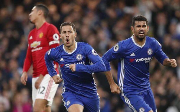 United dá vexame e é goleado pelo Chelsea em Londres