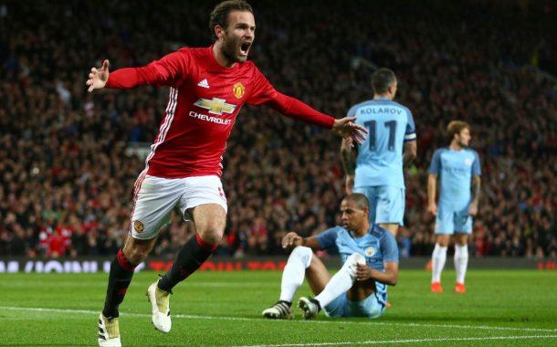 Com gol de Juan Mata, United vence o City e pega o West Ham nas quartas de final da Copa da Liga Inglesa
