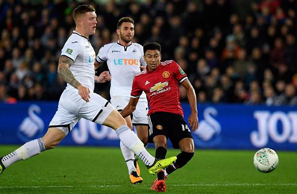 Sem dificuldades o United vence o Swansea e avança na Copa da Liga