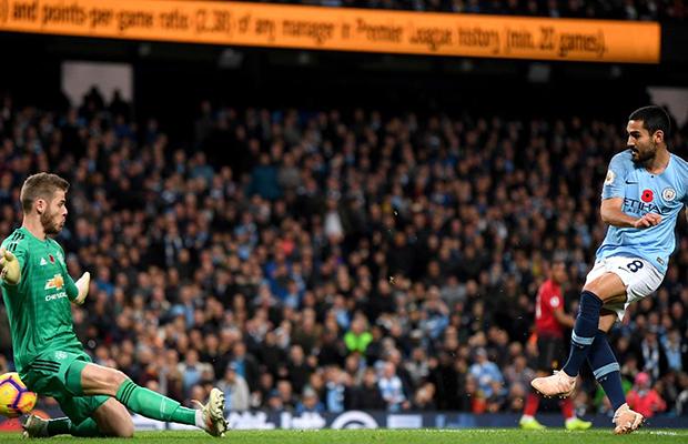 United joga como time pequeno e é derrotado pelo Manchester City