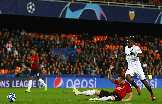 United é derrotado pelo Valencia e perder a chance de ser o primeiro do grupo