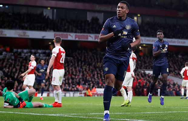 United vence o Arsenal no Emirates Stadium e avança na FA Cup