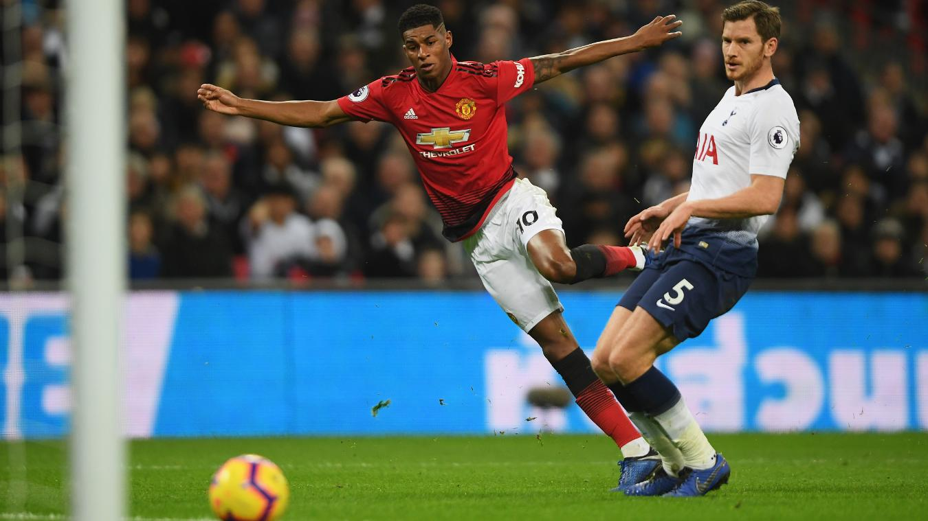 United vence o Tottenham com gol do Rashford e milagres do De Gea